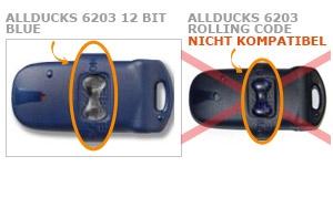 Sender ALLDUCKS 6203 12 BIT BLUE mit 2 tasten