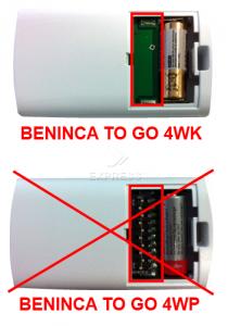 Sender BENINCA TO GO 4WK mit 4 tasten