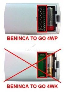 Sender BENINCA TO GO 4WP mit 4 tasten