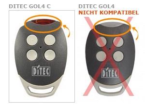 Sender DITEC GOL4 C mit 4 tasten