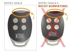 Sender DITEC GOL4 mit 4 tasten