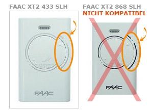 Sender FAAC XT2 433 SLH mit 2 tasten
