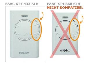 Sender FAAC XT4 433 SLH mit 4 tasten