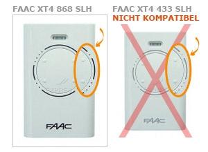 Sender FAAC XT4 868 SLH mit 4 tasten