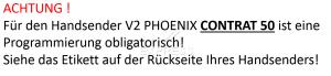 Sender V2 PHOENIX CONTRAT 50 mit 4 tasten