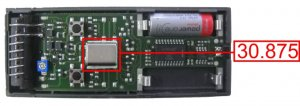 Remote CARDIN S48-TX4 30.875 MHZ with 4 buttons