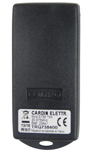 Remote CARDIN S738-TX4 with 4 buttons