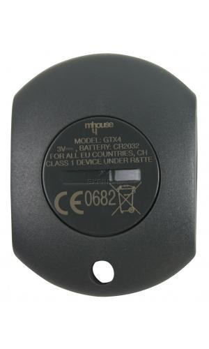 Remote MHOUSE GTX4 with 4 buttons