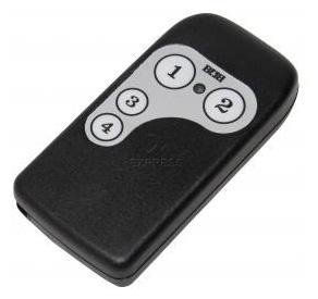 Remote TREBI QTU4 with 4 buttons
