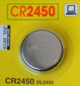 Battery CR2450 LITHIUM 3V-600MAH
