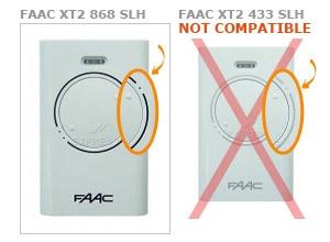 faac xt2 868 slh remote control gate opener. Black Bedroom Furniture Sets. Home Design Ideas