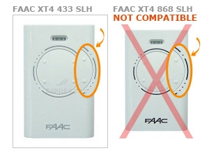 Remote FAAC XT4 433 SLH with 4 buttons