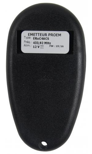 Remote PROEM ER4C4 ACS with 4 buttons