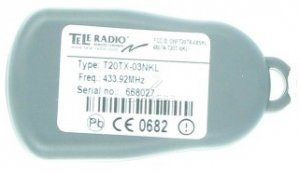 Remote TELERADIO T20TX-01NKL with 1 buttons