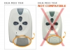 Remote DEA MIO TR4 -ROLLING-CODE- with 4 buttons