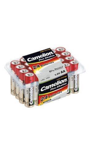 Pile LR06 AA boite plastique de 24 piles