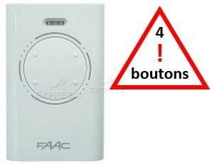 Telecommande FAAC XT4 433 SLH BLACK