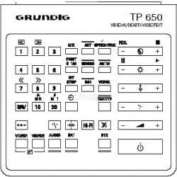 Telecommande GRUNDIG TP650