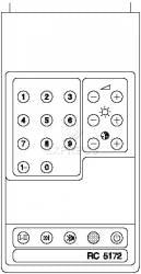 Telecommande PHILIPS RC5172