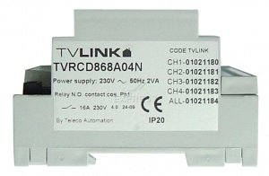Telecommande TELECO RECEPT RCD-868-A04N a 4 boutons