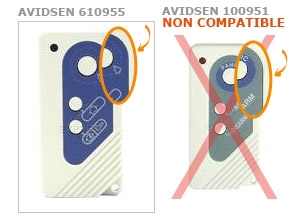 Telecommande AVIDSEN 610955 a 3 boutons