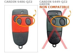 Telecommande CARDIN S486-QZ2 a 2 boutons