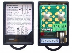 Telecommande ANSONIC SF 433-2 MINI GAMMA 1 434.075 MHZ GRUPPE A-C a 2 boutons