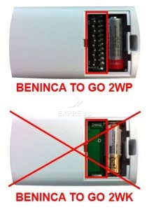 Telecommande BENINCA TO GO 2WP a 2 boutons