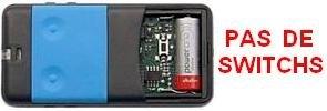 Telecommande CARDIN S435-TX2 BLUE a 2 boutons