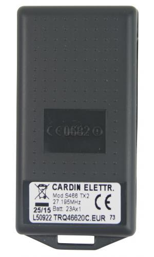 Telecommande CARDIN S466-TX2 a 2 boutons