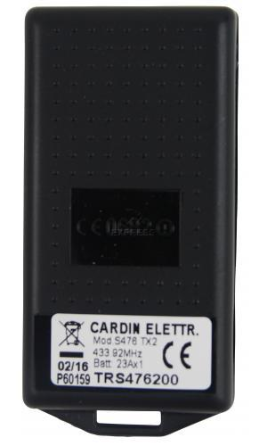 Telecommande CARDIN S476-TX2 a 2 boutons