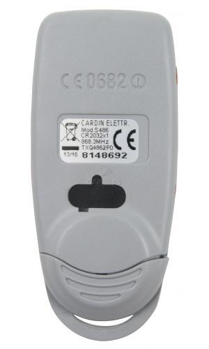 Telecommande CARDIN S486-QZ2P0 a 2 boutons