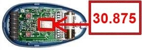 Telecommande CASIT ERTS466 TX4 a 4 boutons