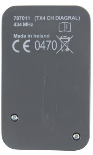 Telecommande DIAGRAL DIAG44MCX a 4 boutons