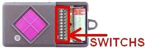 Telecommande DICKERT MAHS433-01 a 1 boutons