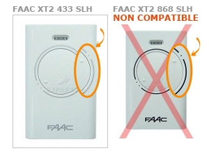 Telecommande FAAC XT2 433 SLH a 2 boutons