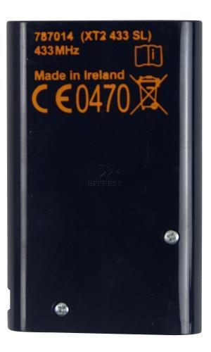 Telecommande FAAC XT2 433 SL a 2 boutons