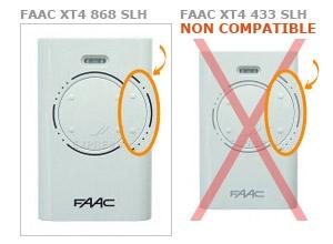 Telecommande FAAC XT4 868 SLH a 4 boutons