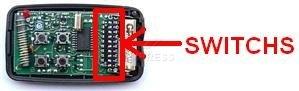 Telecommande GIBIDI MTQ4 26.995 MHZ a 4 boutons