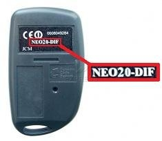 Telecommande JCM NEO20-DIF a 2 boutons