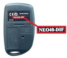 Telecommande JCM NEO40-DIF a 4 boutons