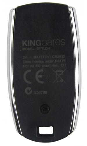 Telecommande KING-GATES STYLO 4 a 4 boutons