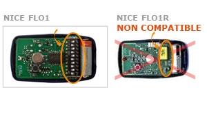 Telecommande NICE FLO1 a 1 boutons