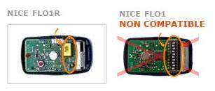 Telecommande NICE FLO1RS a 1 boutons