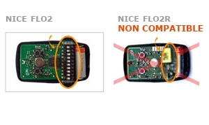 Telecommande NICE FLO2 (SWITCHS) a 2 boutons