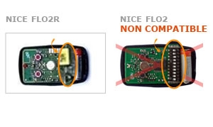 Telecommande NICE FLO2R (ROLLING CODE) a 2 boutons