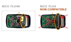 Telecommande NICE FLO4R a 4 boutons