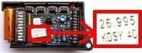 Telecommande PRASTEL KMFT4P 26.995 MHZ a 4 boutons