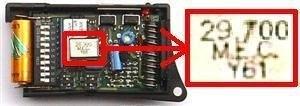 Telecommande PRASTEL KMFT4P 29.700 MHZ GREEN a 4 boutons