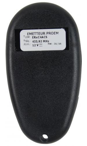 Telecommande PROEM ER2C4 ACS a 2 boutons